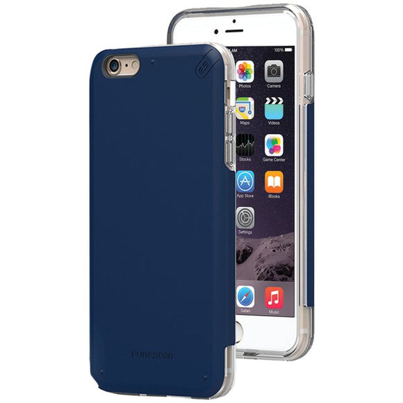 Puregear(r) PureGear(R) 11076VRP DualTek(R) PRO Case for iPhone(R) 6 Plus 6s Plus (Blue Clear)