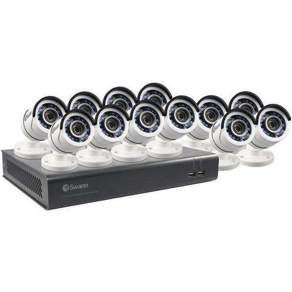 Swann(TM) SWDVK-1645912-US 16-Channel 4595 Series 1080p DVR with 2TB HD & 12 Bullet Cameras