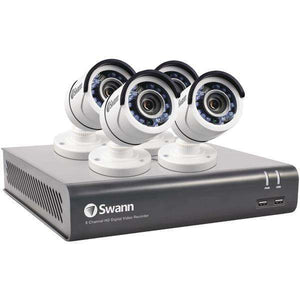 Swann(TM) SWDVK-845754-US 8-Channel 4575 Series 1080p DVR with 1TB HD & 4 Bullet Cameras
