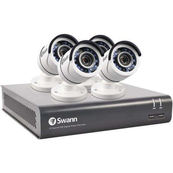 Swann(TM) SWDVK-845904-CL 8-Channel 4590 Series 3.0-Megapixel DVR with 1TB HD & 4 Bullet Cameras