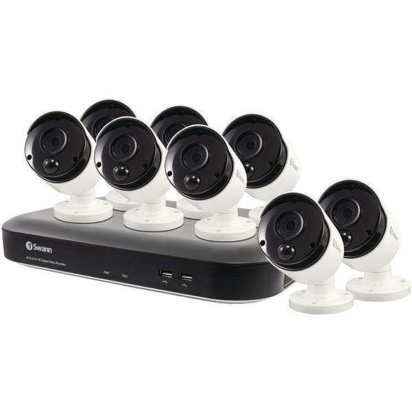 Swann(TM) SWDVK-849808-US 8-Channel 4980 Series 5.0-Megapixel DVR with 2TB HD & 8 PIR Bullet Cameras