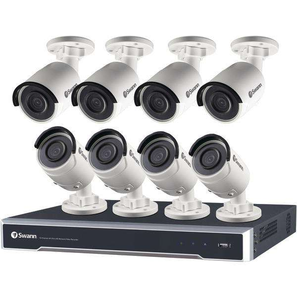 Swann SWNVK-168008-US 16-Channel 8000 Series 4K Ultra HD NVR with 4TB HD & 8 Bullet Cameras