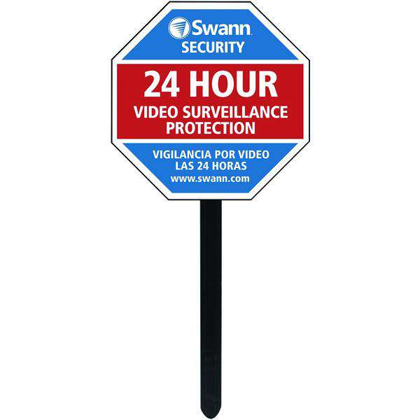 Swann SW276-YSS-0300 Security Sign & Stickers with Yard Stake