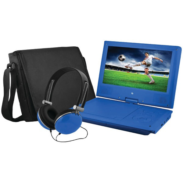 "Ematic Ematic EPD909BU 9"" Portable DVD Player Bundles (Blue)"
