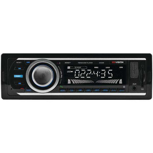 XOVision XD107 Single-DIN In-Dash FM-MP3 Stereo Digital Media Receiver with USB Port & SD(TM) Card Slot