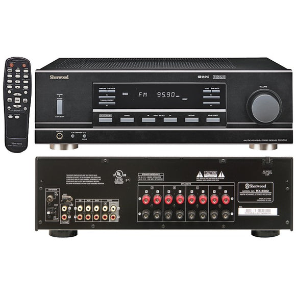 Sherwood RX-5502 4-Channel, 100-Watt Multisource, Dual-Zone A-V Receiver