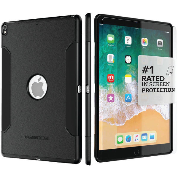 "SaharaCase C-IPD-10.5-BK Classic Protective Kit for iPad 10.5"" (Black)"
