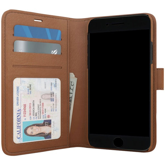 SKECH SK29-PB-BRN Polo Book Wallet Case for iPhone 8-7-6s (Brown)
