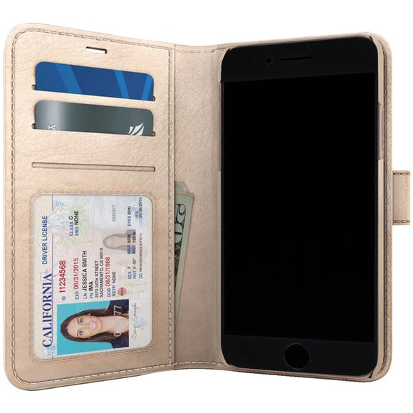 SKECH SK29-PB-CHP Polo Book Wallet Case for iPhone 8-7-6s (Champagne)