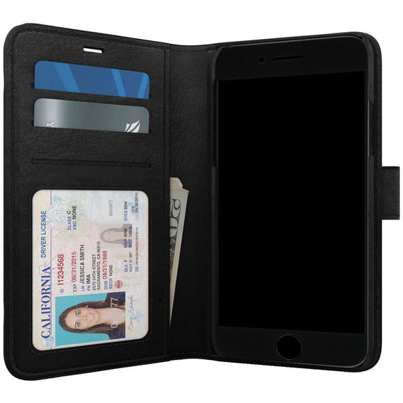SKECH SK39-PB-BLK Polo Book Wallet Case for iPhone 8-7-6s Plus (Black)