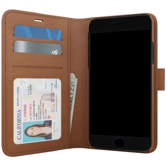 SKECH SK39-PB-BRN Polo Book Wallet Case for iPhone 8-7-6s Plus (Brown)