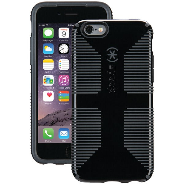 Speck 73425-B565 CandyShell Grip Case for iPhone 6-6s (Black-Slate Gray)