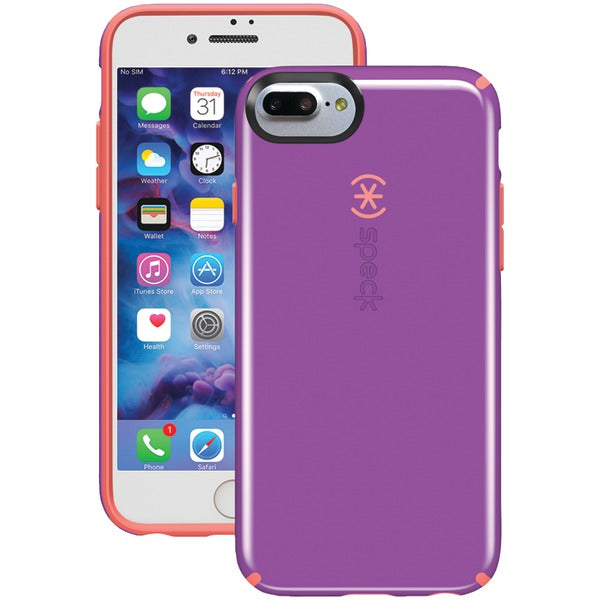 Speck 79241-5457 CandyShell Case for iPhone 7 Plus (Revolution Purple-Warning Orange)