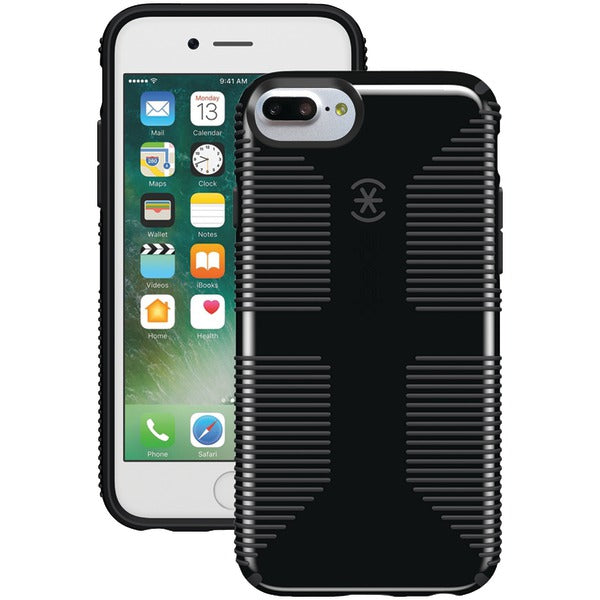 Speck 79242-B565 CandyShell Grip Case for iPhone 7 Plus (Black-Slate Gray)