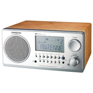 Sangean WR2WAL Digital AM-FM Stereo System with LCD & Alarm Clock (Walnut)