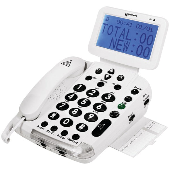 Geemarc(R) BDP400 Big-Display 40dB Amplified Telephone with Talking Caller ID