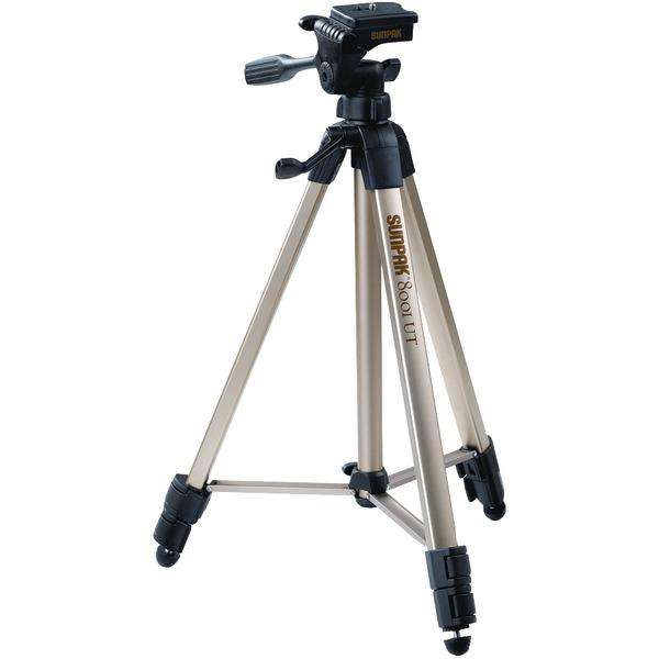 "Sunpak(R) 620-080 Tripod with 3-Way Pan Head (Folded height: 20.8""; Extended height: 60.2""; Weight: 2.3lbs; Includes 2nd quick-release plate)"