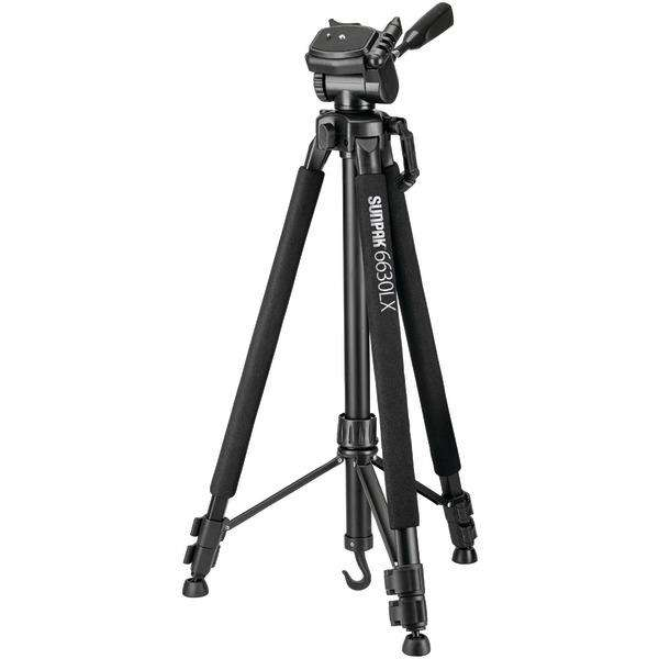"Sunpak(R) 620-663LX 6630LX 66"" Photo-Video Tripod with Adapters"