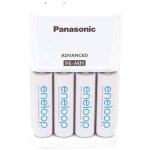 Panasonic(r) Panasonic(R) K KJ17MCA4BA 4 Position Charger with AA eneloop(R) Batteries, 4 pk