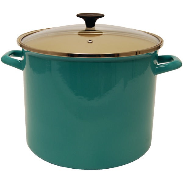 Starfrit(R) 030085-001-0000 11.6-Quart Enamel Carbon Steel Stock Pot with Lid