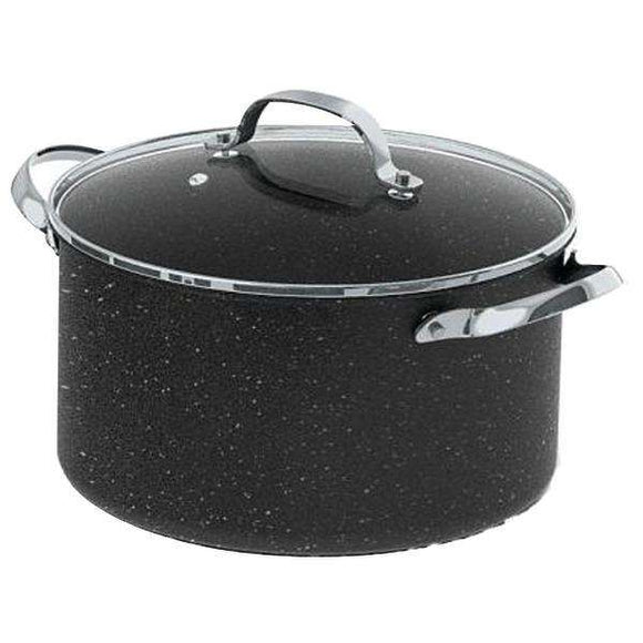 THE ROCK(TM) by Starfrit(R) 060317-002-0000 THE ROCK(TM) by Starfrit 6-Quart Stockpot-Casserole with Glass Lid & Stainless Steel Handles