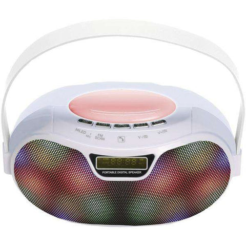 Supersonic(R) SC-1446BT - WHT Bluetooth(R) Portable Rechargeable Speaker (White)