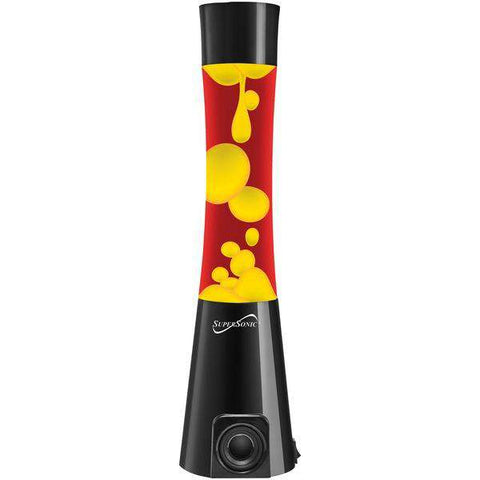 Supersonic(R) SC-1481BT- Y-R Bluetooth(R) Motion Lava Lamp Speaker (Yellow)