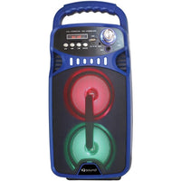 IQ Sound(R) IQ-3244DJBT- BLU Bluetooth(R) Portable Rechargeable Speaker (Blue)