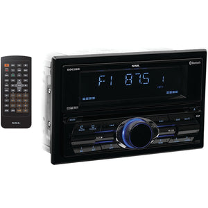 Sound Storm Laboratories(R) DDC28B Double-DIN In-Dash CD AM-FM Receiver with Bluetooth(R)