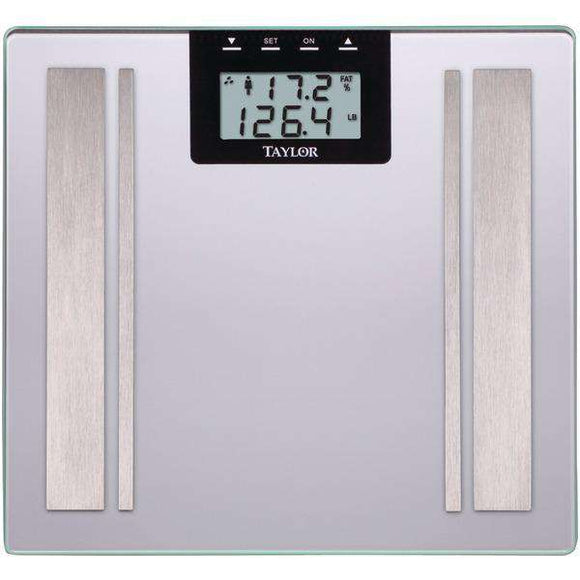 Taylor(R) Precision Products 57364102F Body Fat Digital Scale (Silver)