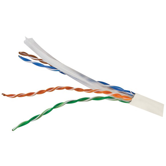 CAT-6 UTP Solid Riser CMR Cable, 1,000ft (White)