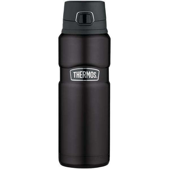Thermos(R) SK4000BKTRI4 Stainless King(TM) Vacuum-Insulated Drink Bottle, 24oz (Matte Black)