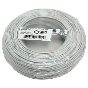 UPG(TM) 77519 18-Gauge, 2-Conductor Striped Control White Cable, 500ft Coil Pack
