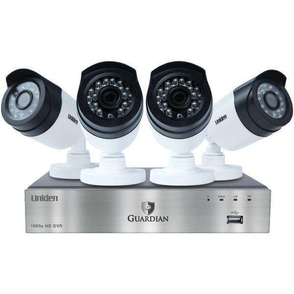 Uniden G6440D1 Guardian 1080p DVR with Outdoor Bullet Cameras (4-Channel, 4 Cameras)