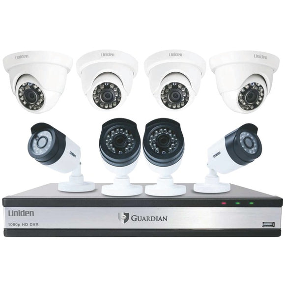 Guardian G71644D3 16-Channel 1080p 3TB Surveillance System with 8 Cameras