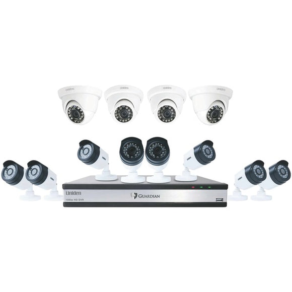 Guardian G71684D3 16-Channel 1080p 3TB Surveillance System with 12 Cameras