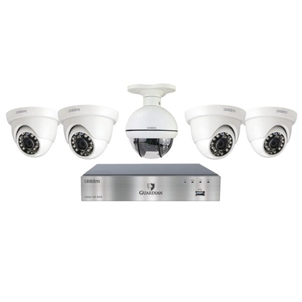 Guardian G7805D2 8-Channel 1080p 1TB Surveillance System with 4 Dome Cameras & 1 PTZ Camera