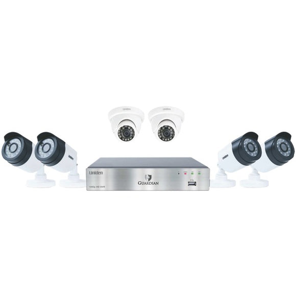 Guardian G7842D2 8-Channel 1080p 2TB Surveillance System with 6 Cameras