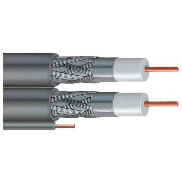 Vextra V266GW GRAY DISH-Approved Dual RG6 Cable with Ground, 500ft (Gray)