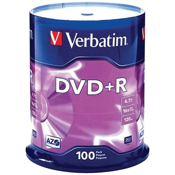 4.7GB DVD+Rs (100-ct Spindle)