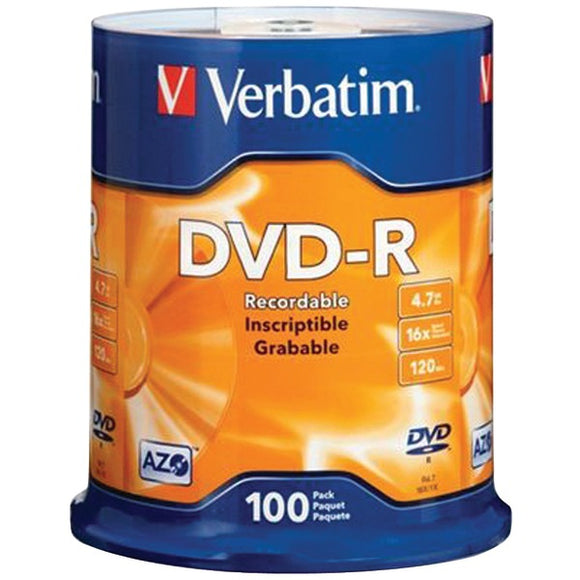 4.7GB DVD-Rs (100-ct Spindle)