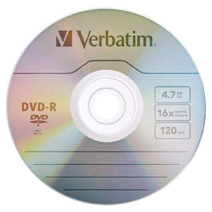 Verbatim(R) 97957 4.7GB 120-Minute 16x DVD-Rs, 10 pk
