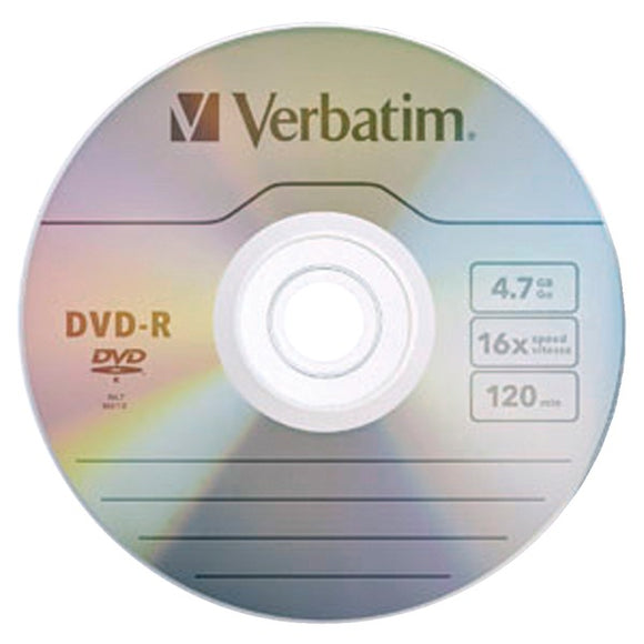 4.7GB 120-Minute 16x DVD-Rs with Branded Surface, 10 pk