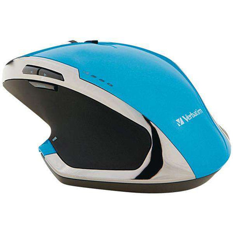 Verbatim(R) 99019 Wireless 8-Button Deluxe Blue LED Mouse (Blue)