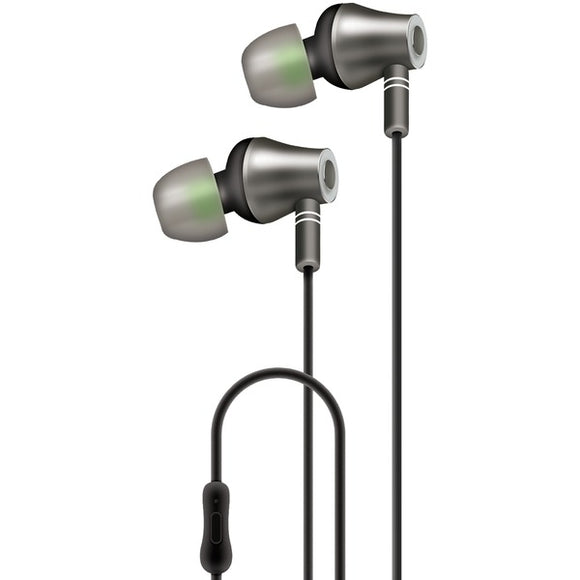 at t e10 blk e10 metallic in ear stereo earbuds with microphone black