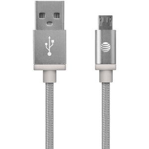 at tr mc05 slv braided usb to micro usb charge sync cable 5ft silver