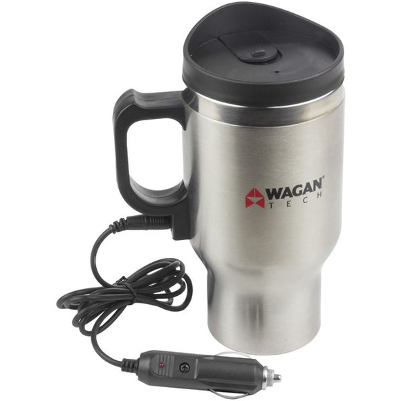 12-Volt Deluxe Double-Wall Stainless Steel Heated Travel Mug