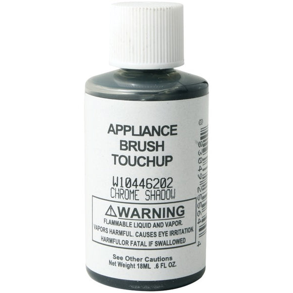 No Logo W10446202 Appliance Brush on Touch up Paint (Chrome Shadow)