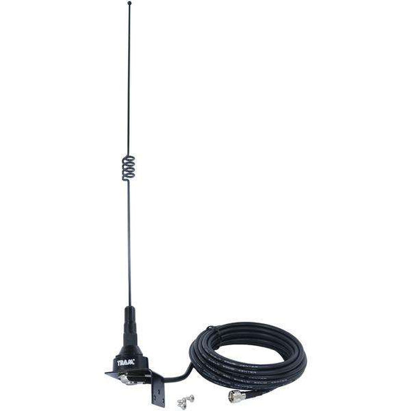 Tram 10281-MUHF Pre-Tuned 140MHz-170MHz VHF-430MHz-470MHz UHF Dual-Band Trunk or Hole Mount Antenna Kit with Mini-UHF Male Connector
