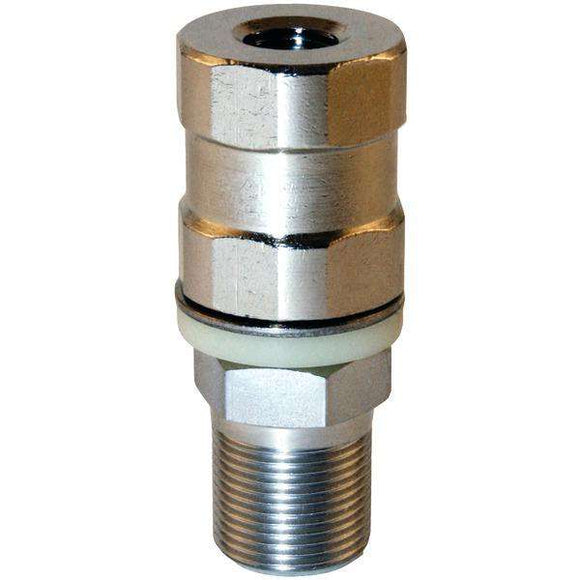 Tram(R) 208 Super-Duty CB Stud Stainless Steel SO-239, All Thread & Contact Pin